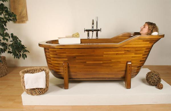 Stunning Most Creative Bathtub Design Ideas: Beautiful Wood Bathtub 3 By STOLIS