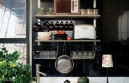 kitchen designs for a small kitchen : Black Bright Compact Small Organized Kitchen