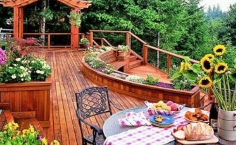 Astonishing Outdoor Deck Design Ideas With Unique Style : Bold Outdoor Deck Design Installing Traditional Wood Railing A Perfect Complement To Our Accents Decking Line Ideas