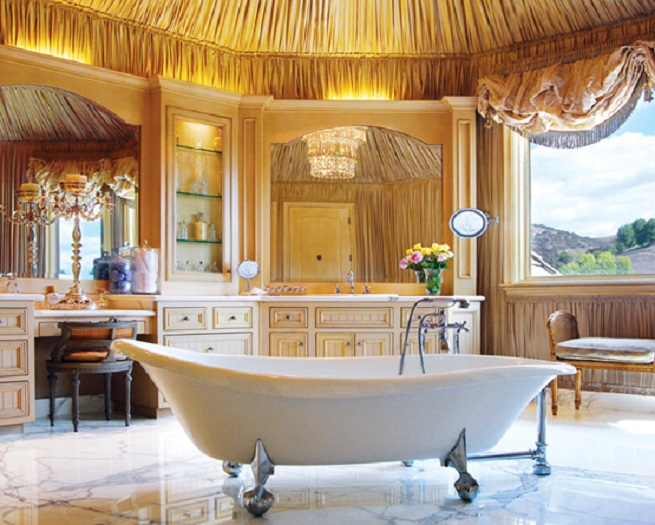 Breathtaking Bathrooms With Amazing Personality : Breathtaking Bathrooms With Wide Window Beautiful Mirror Marble Floor Amazing Bathrooms