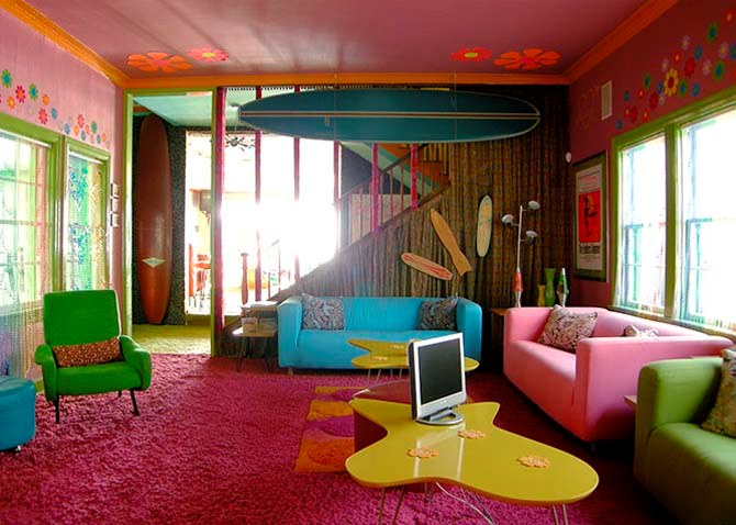 Decorating Ideas: Cool Room For Teenagers: Breathtaking Cool Colorful Teenagers Beach Room Interior Decoration Ideas