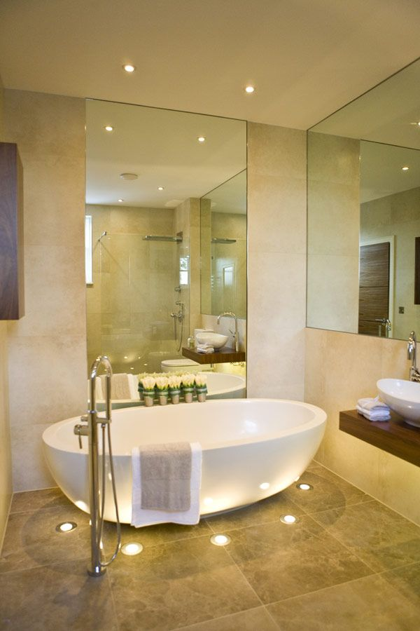 Breathtaking Bathroom Design Ideas You'll Love: Breathtaking Design Of Bathroom Design Ideas With Traditional And Also Minimalist Creation Of Tub With Lights And Mirror ~ stevenwardhair.com Bathroom Design Inspiration