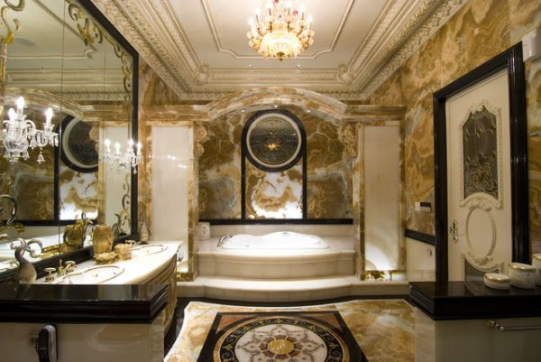Breathtaking Bathroom Design Ideas You'll Love: Breathtaking Design Of Bathroom Ideas Beautiful Italian Decoration With Glass Carving Mirror Terrific Wall Decoration