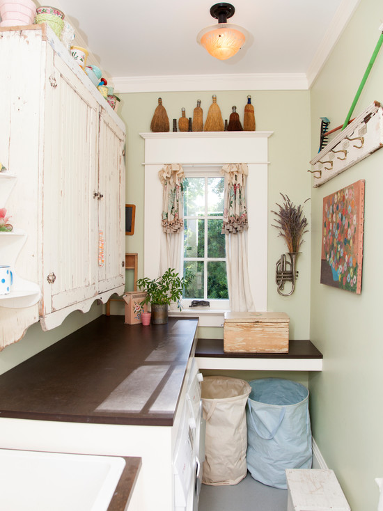 Creative Recycled Paper Countertop: Breathtaking Eclectic Laundry Room Recycled Paper Countertop The Color Is Gun Metal And White Wall Cupboards Which Sat In Storage For Years