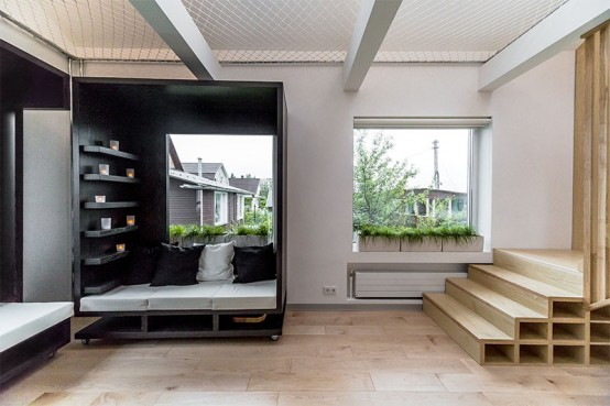 Functional And Multipurpose Apartment Designed: Breathtaking Tiny But Functional Apartment For Two Students With Every Inch Of The Space Is Used With A Functional Purpose ~ stevenwardhair.com Apartments Inspiration