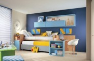 Calm and Ergonomic Bedroom Ideas for Kids : Bright And Airy Bedroom Ideas For Two Children With Colorful Bright And Ergonomic Furniture
