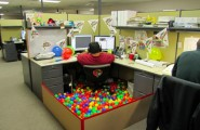 Inspiring Office Cubicle Decoration Full In Town : Brthday Party Office Cubicle Decoration Ideas Big Man On Office Chair