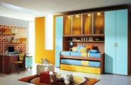 Charming Interesting Bunk Bed Designs For Kids Bedroom : Bunk Bedroom Creative Arts Design Inspiring Attractive And Unique Design Bunk Beds Kids Room Transparant Clean Blue Closets