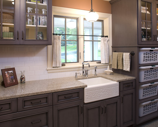 Best Lighting For Laundry Room: Cabinet Color For Powder Room And Lighting Fixtures At Traditional Laundry Room ~ stevenwardhair.com Lamps Inspiration