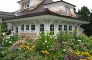 Greatest Cottage Garden Plants : Cape Cod Shingle Style Traditional Exterior With Colorful Cottage Garden For Around Screen Porch