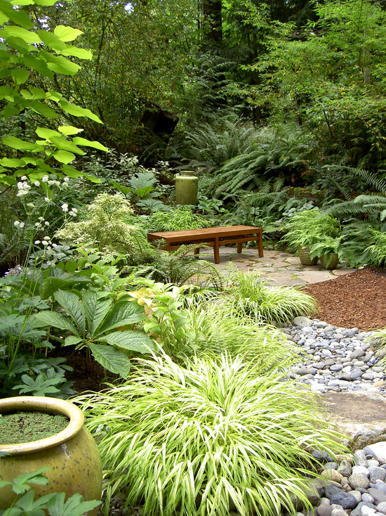 Excellent Landscaping Shaded Areas : Captivating Contemporary Landscape Landscaping Shaded Areas Wetter Areas So Even With The Root Competition Some Smaller Plants