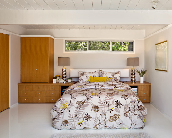 Amazing Built In Bedroom Furniture Designs: Captivating Midcentury Bedroom Built In Bedroom Furniture Designs High Window And This Cabinet Configuration Would Be Perfect Floating Headboard With The Built Ins ~ stevenwardhair.com Bedroom Design Inspiration