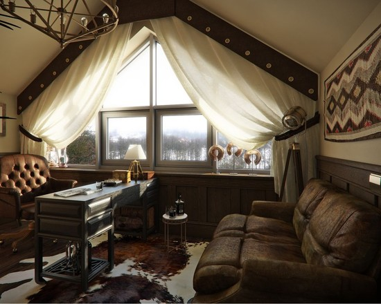Stunning Tents For Kids Rooms: Captivating Rustic Home Office Tents For Kids Rooms Curtains Like Peering Out Of A Tent Wide Variety Of Finishes And Materials Including Wood Leather Copper And Brass