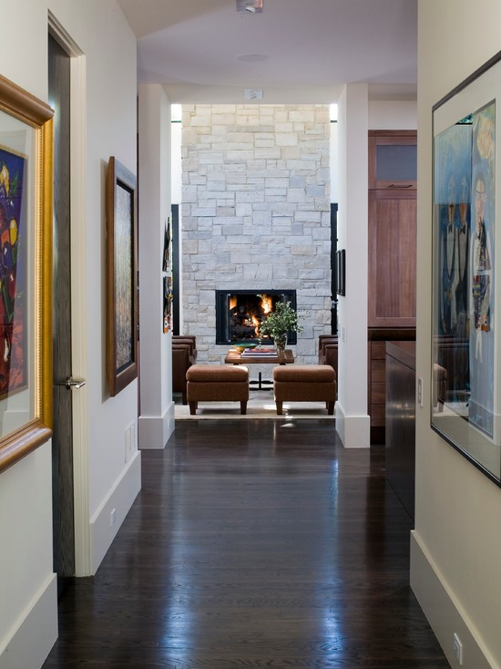Very Cool Baseboards Styles: Captivating Traditional Hall Baseboards Styles Thick Tall Baseboards No Crown And Fireplace Color