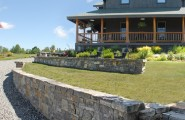 Home Curbside Landscaping Ideas : Champlain Stone Contemporary Landscape With Curbside Stone Wall