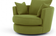Green Color Apartment Furnitures Themes Four Young Couple : Charming Green Sofas Swivel Loveseat Sofa Green Cushions