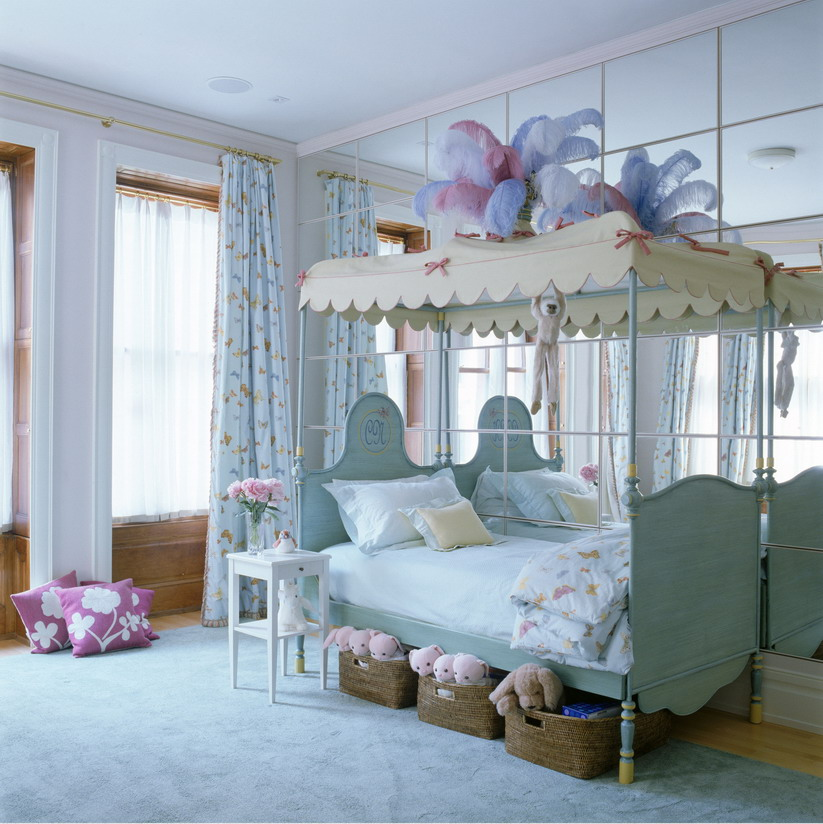 Inspiring Kids Planning Girls Bedroom Using Colorfull Patern  Charming Inspiring Girls Planning Bedroom Design Ideas & Bed Ideas: Charming Inspiring Girls Planning Bedroom Design Ideas ...