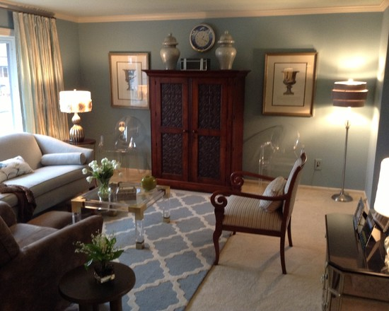 Outstanding Phillip Stark Ghost Chairs: Charming Phillip Stark Ghost Chairs At Transitional Family Room