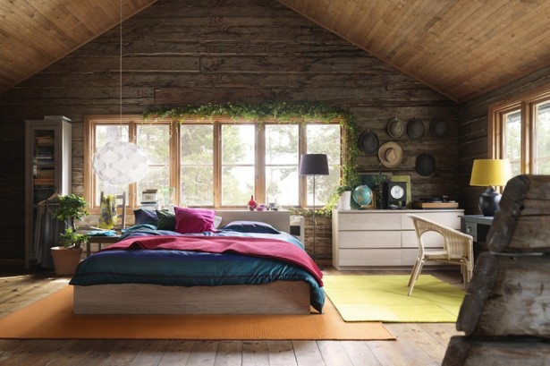 Terrific Woodhouse Concept Design That Can Produce All You Need In House: Colorful High Quality Modern Wooden House Design Wiith White Lantern Cool Orange Carpet Green Artificial Plant Pot And Wood House Interior Bedroom ~ stevenwardhair.com Home Design Inspiration