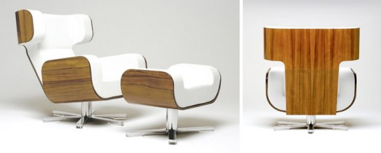 The Most Comfortable Lounge Chairs In The World: Combination Wood And Foam Wing Lounge Chair