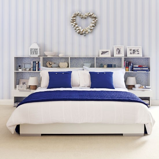 Cheerfully Pleasant Colorful Bedroom Using Fantastic Furnitures: Comfortable Bedroom Interior With Breathtaking Use Of Romantic Furnitures Blue Bedroom Colour Schemes
