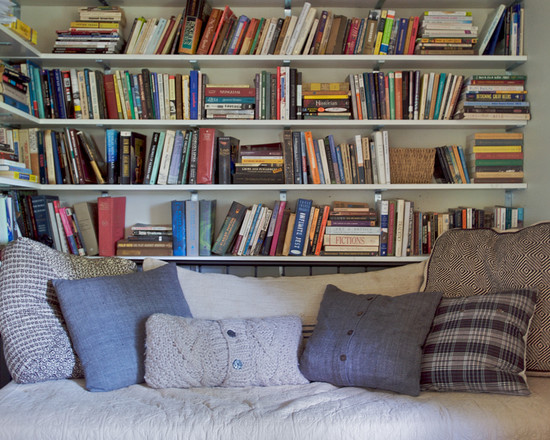 Extraordinary Sweater Pillow Covers : Comfy Daybed With Lots Of Pillows And Book Shelves And The Pillow Out Of Old Sweater Or Sweatshirt Green Sweater With Blue Horses