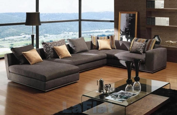 Great Design For Modern Living Room Furniture Ideas : Contemporary Beauty Design For Modern Living Room Furniture Ideas Grey Sofa Nice Pillow Floor To Ceiling Remarkable Glass Window