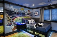 Amazing Boys Bedroom Paint Color Schemes : Contemporary Boys Bedroom Color Schemes Sports Idea With Green Fur Rug