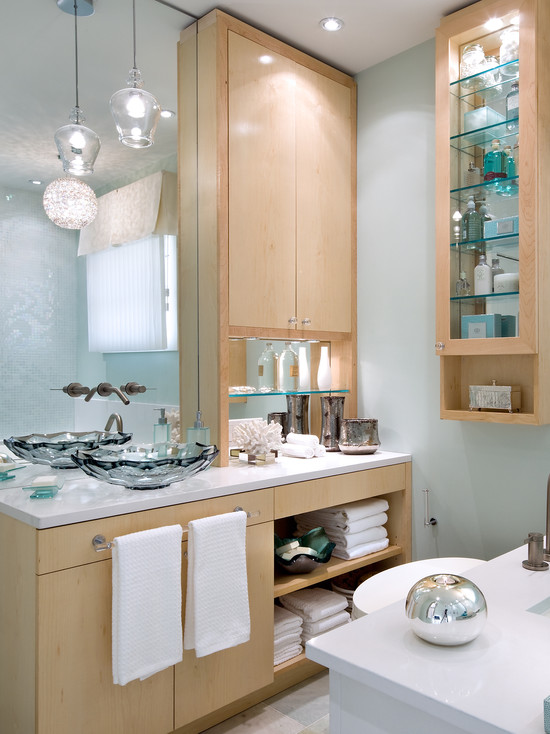 Beautiful Candice Olson Bathroom Designs: Contemporary Candice Olson Bathroom Eureka Pendant Lights Wood White And Turqouise Cabinetry