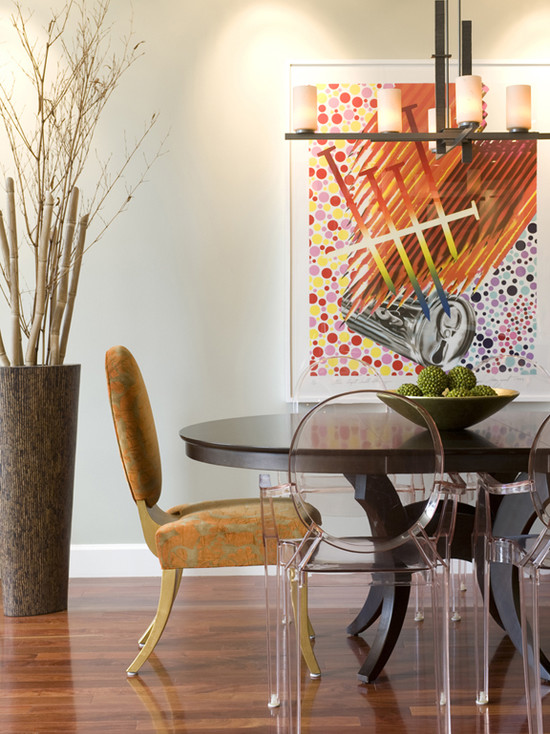 Beautiful Flowers For Tall Vases: Contemporary Dining Room Floor Vase Feel Taller By Adding Bamboo Or Branches Large Vase Adds Depth To The Space