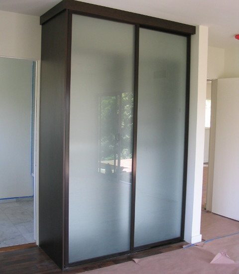 Free Standing Closet For Various Functions : Contemporary Free Standing  Closet Acid Etched Wardrobe Doors