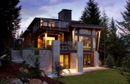 Contemporary Home Plans Make Modern Living More Attractive : Contemporary Home Plans Make Modern Living More Attractive Soft Wooden Astounding House With A Modern Contemporary Interior Blend With Natural Ambience