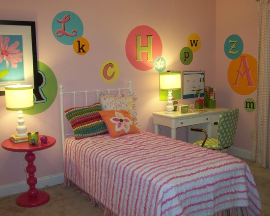 Awesome Jenny Lind Twin Beds: Contemporary Kids Jenny Lind Bed Letters Decor Simple Bed And Wall Lettering Wrought Iron Bed Desk By Bed And Striped Bedding