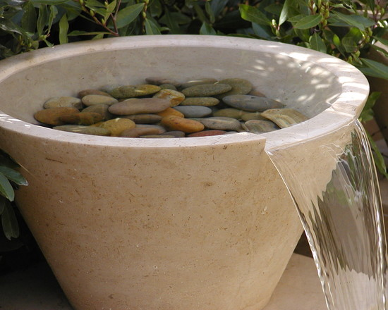 Creative Excellent Pondless Water Fountains: Contemporary Landscape Moving Water Beauties Offer Simultaneous Harmony For Both The Eyes And The Ears With Couple Hundred Stones Plus A Pot And A Water Pump
