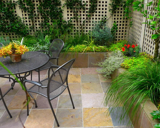 Inspiring Outside Flooring Ideas: Contemporary Patio Garden Having Plants On The Right Side Outdoor Flooring Idea ~ stevenwardhair.com Exterior Design Inspiration