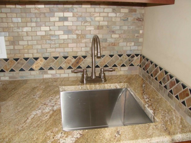 Outstanding Stone Sink Shaped Designs For Modern House: Contemporary Stone Sink Design For Their Bathroom And Kitchen Kitchen Laminate Backsplash Stone Sink Design Marble Countertop ~ stevenwardhair.com Tips & Ideas Inspiration