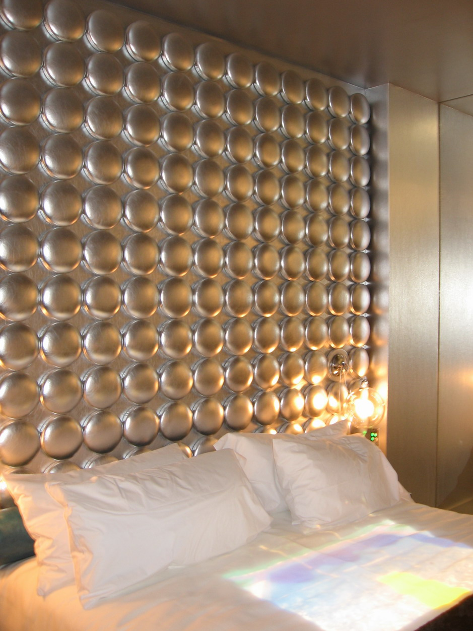 ... Awesome Padded Wall Panel Design As A Wall Decor Ideas : Cool Bedroom  Decoration With Luxury ...