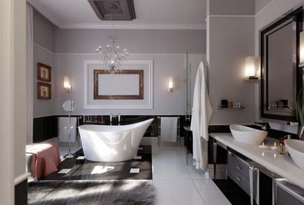 Breathtaking Bathroom Design Ideas You'll Love : Cool Breathtaking Design Of Bathroom Ideas Black And White Traditional Bathup And Also Minimalist Sink And Mirror Creation