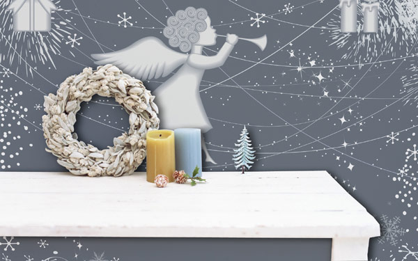 All Kind Of Christmas Holiday Wall Decals : Cool Christmas Angel Wall Decals