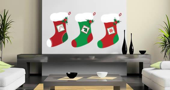 All Kind Of Christmas Holiday Wall Decals : Cool Christmas Holiday Socks Wall Decals
