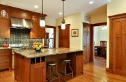 Beautiful Craftsman Style Home Colors : Cool Craftsman Kitchen Craftsman Style Home Colors Cabinets Are Perfect And Are Those Big Doors On The Fridge Three Panel Doors With Black Hinges