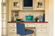 Build Your Desk In A Closet : Cool Desk In Closet Ideas Chair Computer Wooden Flooring
