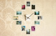 Cheap Tricks To Bring Photography Into Your Home : Cool DIY Cheap Trick To Bring Photography Into Home Project By Added Photo Surrounding Wall Clock
