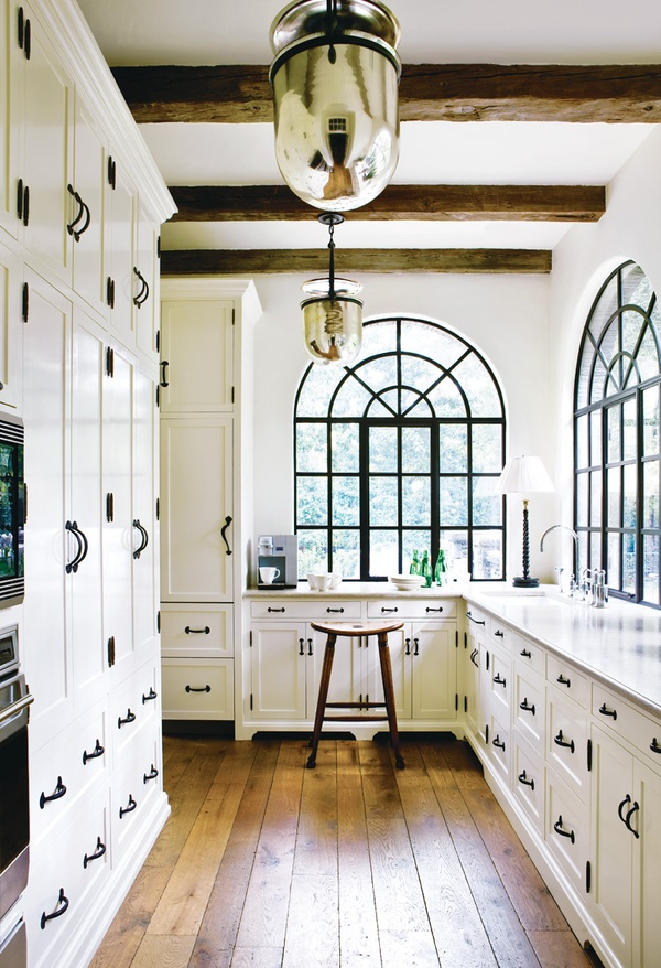 Healthy Home: Cool Healthy Home White Glossy Color Kitchen Cabinet Pendant Lamps Expose Ceiling Wooden Floors ~ stevenwardhair.com Bathroom Design Inspiration