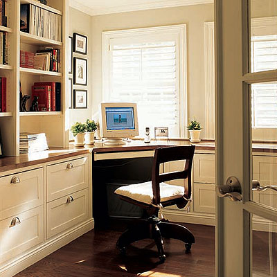 Pictures Of Home Office Desk Design Ideas: Cool Home Office Desk In Corner Room Area With Book Shelves Cabinet Chair Computer Wooden Flooring Ideas