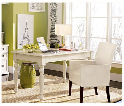Pictures Of Home Office Desk Design Ideas : Cool Home Office Desk With Green Color Wall White Window Chair Lamp Laptop Chest Of Drawer Picture Rug Wooden Flooring Ideas
