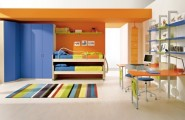 Ergonomic toys and clothes Storage For Kids Room : Cool Kids Bedroom With A Lot Of Space Storage With Storage And Comfortable Furniture With Custom High Bookshelves Built In Wardrobe