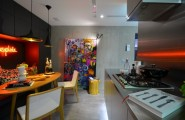 Urban Live-In Kitchen Concept : Cool Live In Kitchen Interior Design That Defined By Two Volumes Its Dark Grey And Silver Volume Idea