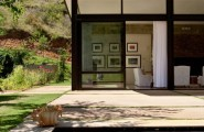 The Swellendam House: Sustainable Contemporary Home In South Africa : Cool Living Room Contemporary Sustainable Home Design With Large Glass Window With Pool Concrete Flooring View From Outside Ideas