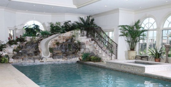 Various Indoor Swimming Pool Design Ideas : Cool Luxury Indoor Swimming  Pool With Indoor Garden Design